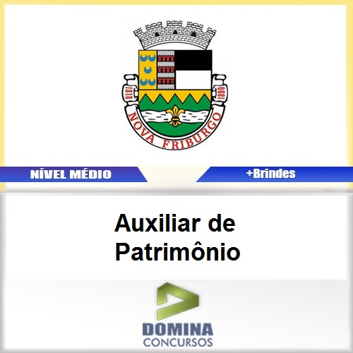 Apostila Nova Fraiburgo RJ 2017 Auxiliar de Patrimônio