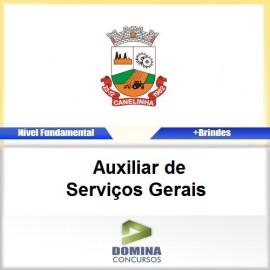 Apostila Canelinha SC 2017 Auxiliar de Serviços Gerais