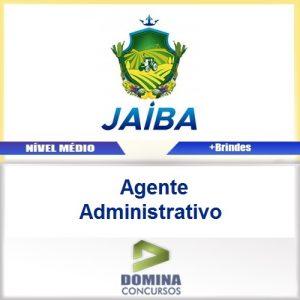 Apostila Concurso Jaíba MG 2017 Agente Administrativo