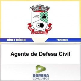 Apostila Guabiruba SC 2017 Agente de Defesa Civil