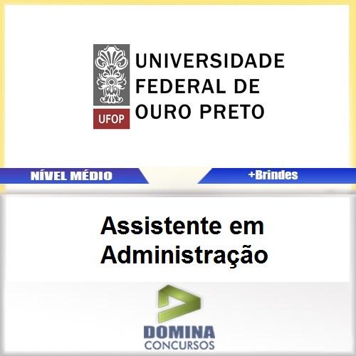 Apostila UFOP 2017 Assistente em Administração