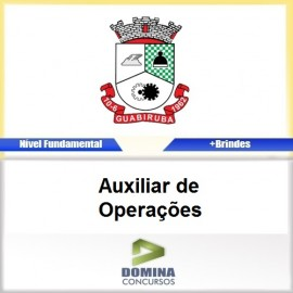 Apostila Guabiruba SC 2017 Auxiliar de Operações