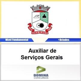 Apostila Guabiruba SC 2017 Auxiliar de Serviços Gerais