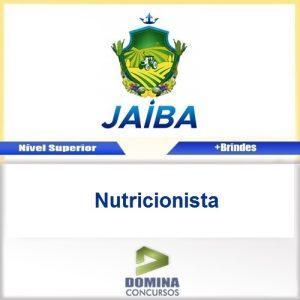 Apostila Concurso Jaíba MG 2017 Nutricionista