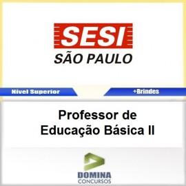 Apostila SESI SP 2017 Professor de Educação Básica II