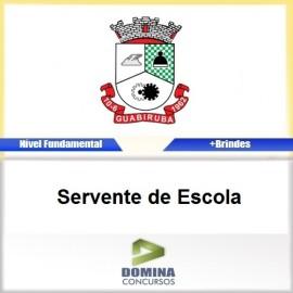 Apostila Guabiruba SC 2017 Servente de Escola