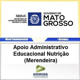 Apostila SEDUC MT 2017 Apoio EDU Nutrição Merendeira