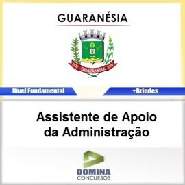 Apostila Guaranésia MG 2017 Assistente Apoio da ADM