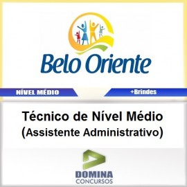 Apostila Belo Oriente MG 2017 Assistente Administrativo