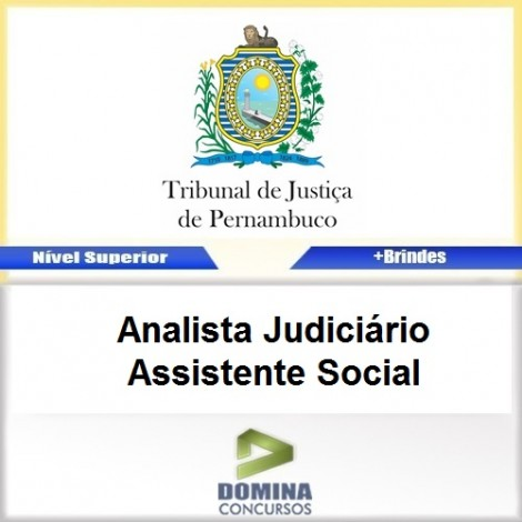 Apostila TJ PE 2017 Analista JUD Assistente Social