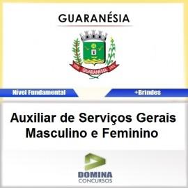 Apostila Guaranésia MG 2017 Auxiliar de Serviços Gerais