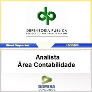 Apostila DPE RS 2017 Analista Área Contabilidade