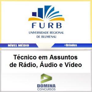 Apostila FURB SC 2017 TEC Assuntos Rádio, Áudio Vídeo