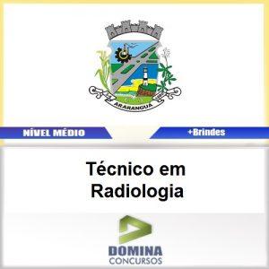 Apostila Araranguá SC 2017 Técnico em Radiologia