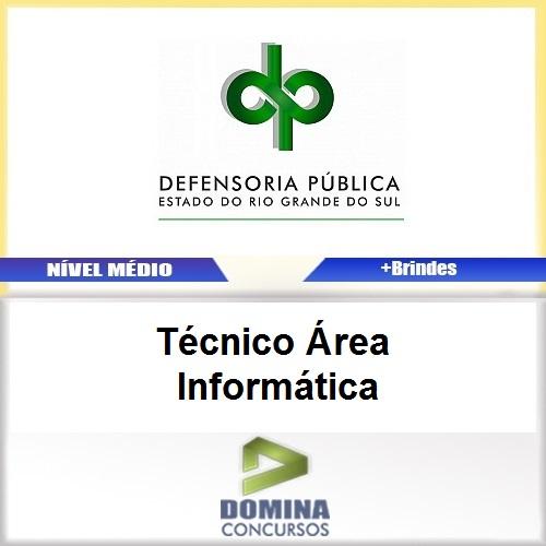 Apostila Concurso DPE RS 2017 Técnico Área Informática