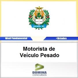 Apostila Colniza MT 2017 Motorista de Veículo Pesado