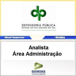 Apostila DPE RS 2017 Analista Administração PDF