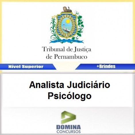 Apostila TJ PE 2017 Analista Judiciário Psicólogo