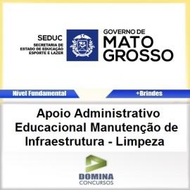 Apostila SEDUC MT 2017 Apoio EDU Manutenção Limpeza