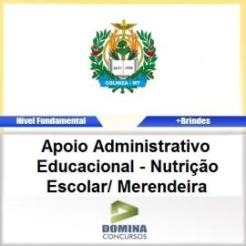 Apostila Colniza MT 2017 Nutrição Escolar Merendeira