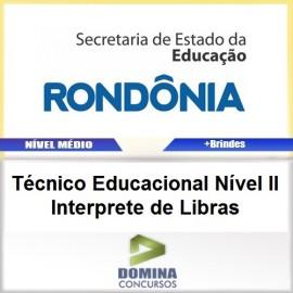 Apostila SEDUC RO 2017 TEC EDU Interprete de Libras