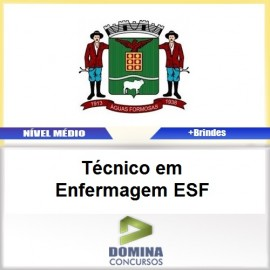 Apostila Águas Formosas MG Técnico Enfermagem ESF