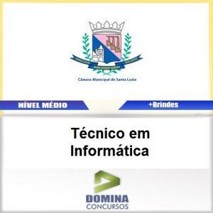 Apostila Santa Luzia MG 2017 Técnico em Informática