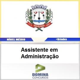 Apostila Anaurilândia MS 2017 Assistente Administração
