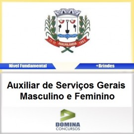 Apostila Anaurilândia MS 2017 AUX de Serviços Gerais