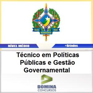 Apostila SEPOG RO 2017 TEC Políticas Governamental