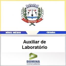 Apostila Anaurilândia MS 2017 Auxiliar de Laboratório