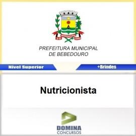 Apostila Concurso Bebedouro SP 2017 Nutricionista