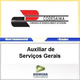 Apostila CODESAIMA RR 2017 Auxiliar Serviços Gerais