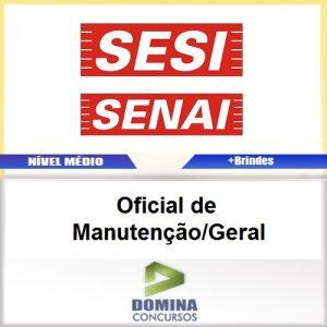 Apostila SESI SENAI SP 2017 Oficial Manutenção Geral