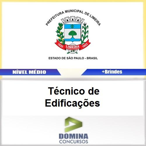 Apostila Concurso Limeira SP 2017 Técnico de Edificações