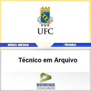 Apostila Concurso UFC 2017 Técnico em Arquivo PDF