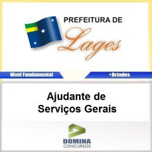 Apostila Concurso Lages SC 2017 Ajudante de Serviços Gerais
