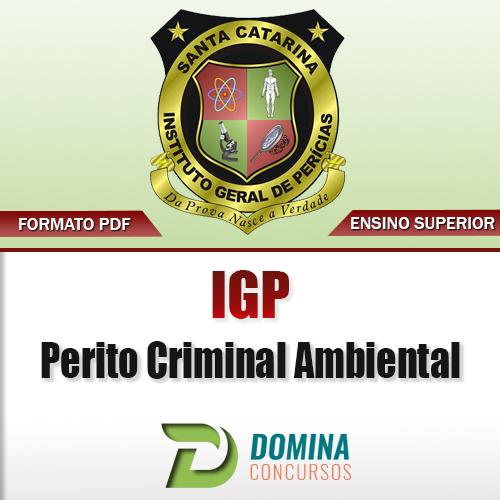 Apostila IGP SC 2017 Perito Criminal Ambiental PDF