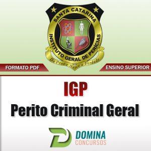 Apostila IGP SC 2017 Perito Criminal Geral Download