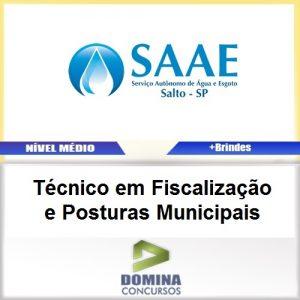 Apostila Concurso SAAE SP 2017 TEC Fiscalização Municipais