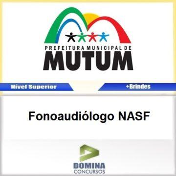 Apostila Concurso Mutum MG 2017 Fonoaudiólogo NASF