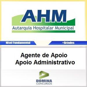 Apostila AHM SP 2017 Agente de Apoio Administrativo