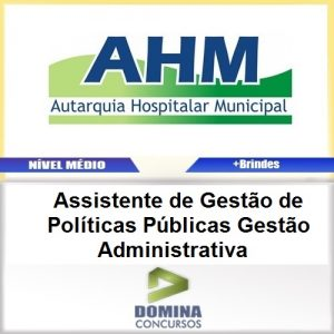 Apostila Concurso AHM SP 2017 Gestão Administrativa PDF