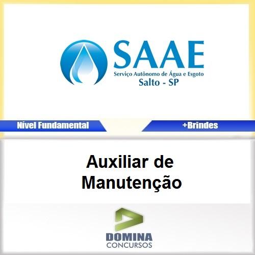 Apostila Concurso SAAE SP 2017 Auxiliar de Manutenção