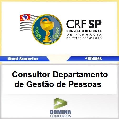 Apostila Concurso CRF SP 2017 Consultor Gestão de Pessoas