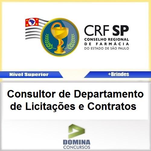 Apostila Concurso CRF SP 2017 Consultor de Licitações Contratos