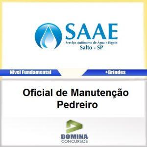 Apostila Concurso SAAE SP 2017 Oficial Manutenção Pedreiro