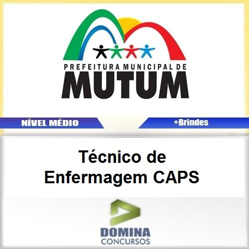 Apostila Mutum MG 2017 Técnico de Enfermagem CAPS