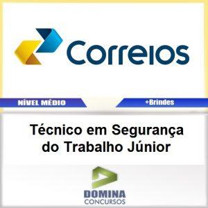 Apostila Correios 2017 Técnico Segurança Trabalho Júnior
