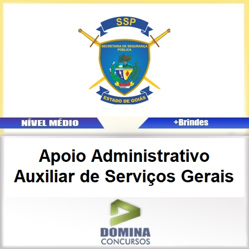 Apostila SSPAP GO 2017 Apoio ADM Auxiliar de Serviços Gerais